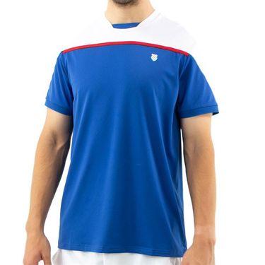 K Swiss Hypercourt Express Block 2 Tee Shirt Mens Dark Blue/White 104238 432