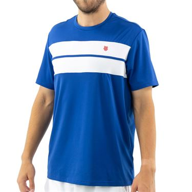 K Swiss Hypercourt Express Crew Tee Shirt Mens Dark Blue/White 104239 432