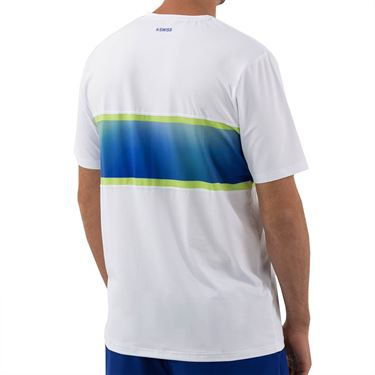 K Swiss Hypercourt Express Crew 2 Tee Shirt Mens White/Web Blue 104241 175