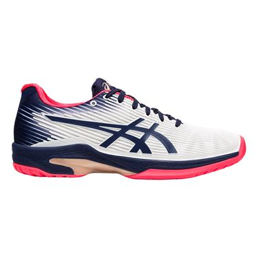 Asics Solution Speed FF Womens Tennis Shoe White/Peacoat 1042A002 102