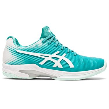 Asics Solution Speed FF Womens Tennis Shoe Techno Cyan/White 1042A002 300