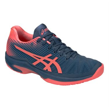 Asics Solution Speed FF Womens Tennis Shoe - Grand Shark/Papaya