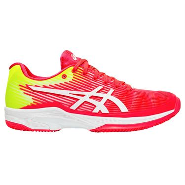 Asics Solution Speed FF Clay Womens Tennis Shoe - Laser Pink/White