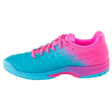 Asics Solution Speed FF Limited Edition Womens Tennis Shoe - Aquarium/Hot Pink