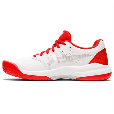Asics Gel Game 7 Womens Tennis Shoe White/Fiery Red 1042A036 105