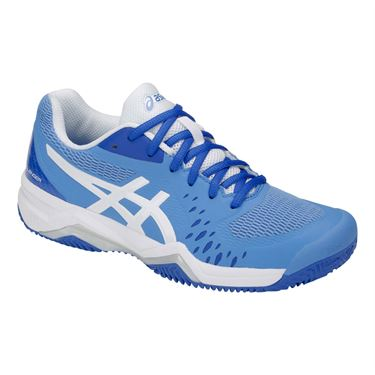 Asics Gel Challenger 12 Clay Womens Tennis Shoe - Blue Coast/White