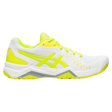 Asics Gel Challenger 12 Womens Tennis Shoe - White/Safety Yellow