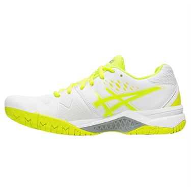 Asics Gel Challenger 12 Womens Tennis Shoe - White/Safety Yellow