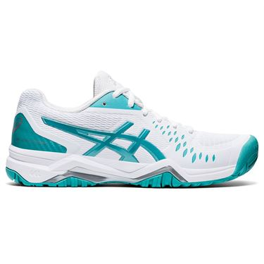 Asics Gel Challenger 12 Womens Tennis Shoe White/Techno Cyan 1042A041 107
