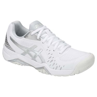 Asics Gel Challenger 12 Womens Tennis Shoe - White/Silver