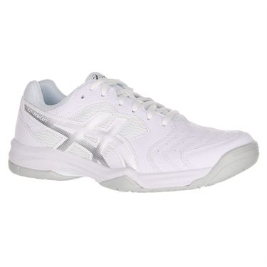 Asics Gel Dedicate 6 Womens Tennis Shoe - White/Silver