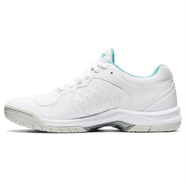 Asics Gel Dedicate 6 Womens Tennis Shoe White/Techno Cyan 1042A067 105