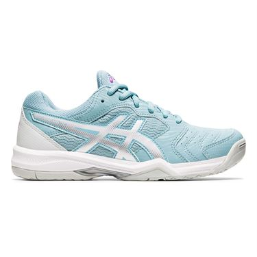 Asics Gel Dedicate 6 Womens Tennis Shoe Smoke Blue/White 1042A067 401