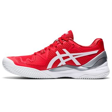 Asics Gel Resolution 8 Clay Womens Tennis Shoe Fiery Red/White 1042A070 601