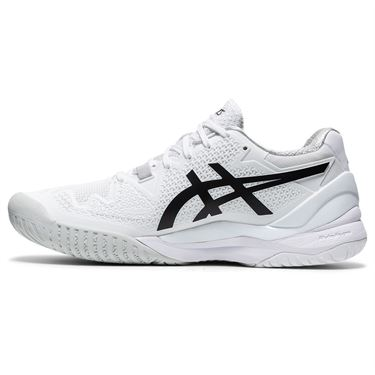 Asics Gel Resolution 8 Womens Tennis Shoe White/Black 1042A072 101