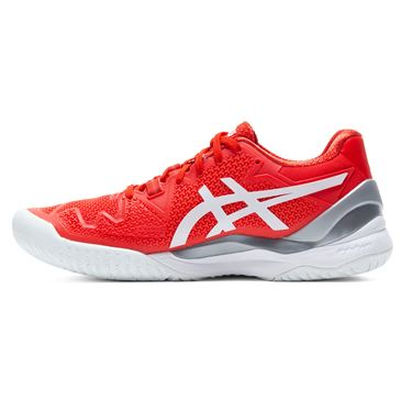 Asics Gel Resolution 8 Womens Tennis Shoe Fiery Red/White 1042A72 601