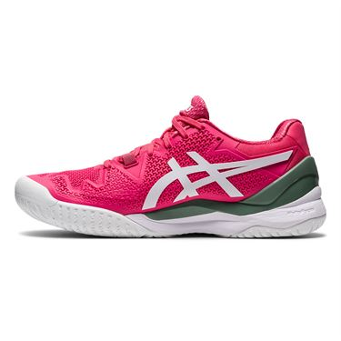Asics Gel Resolution 8 Womens Tennis Shoe Pink Cameo/White 1042A072 702