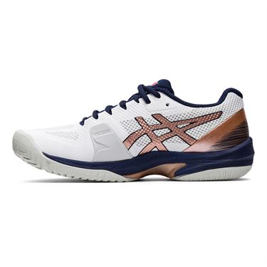 Asics Court Speed FF Womens Tennis Shoe White/Rose Gold 1042A080 103