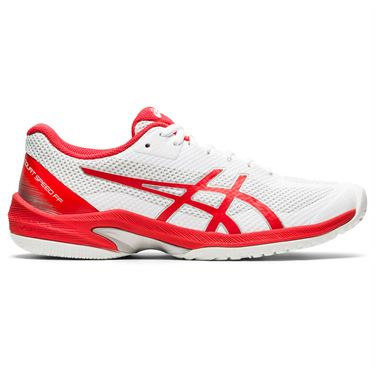 Asics Court Speed FF Womens Tennis Shoe White/Fiery Red 1042A080 105