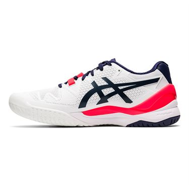 Asics Gel Resolution 8 Wide Womens Tennis Shoe White/Peacoat 1042A097 103