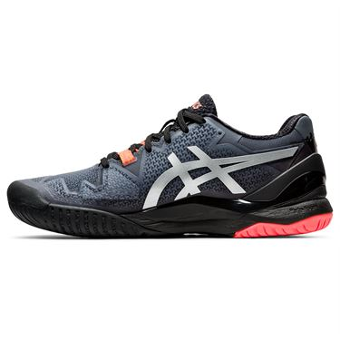 Asics Gel Resolution 8 LE Womens Tennis Shoe Black/Sunrise Red 1042A122 010