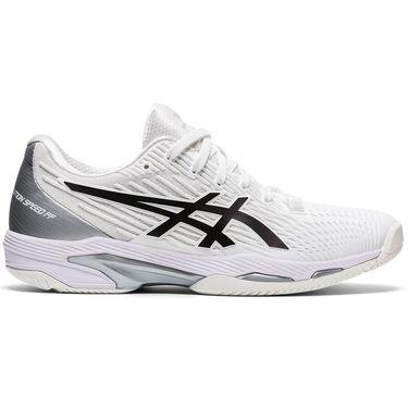 Asics Solution Speed FF 2 Womens Tennis Shoe White/Black 1042A136 100