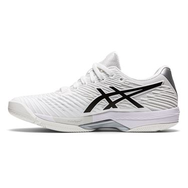 Asics Solution Speed FF 2 Womens Tennis Shoe White/Black 1042A136 100