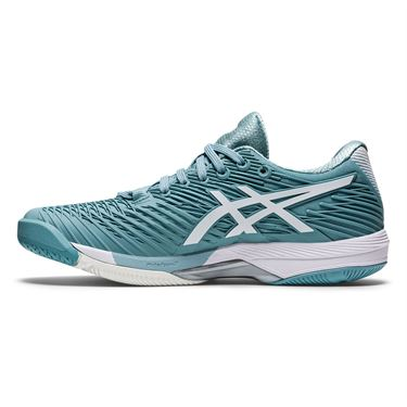 Asics Solution Speed FF 2 Womens Tennis Shoe Smoke Blue/White 1042A136 400