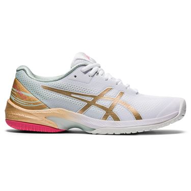 Asics Court Speed FF LE Womens Tennis Shoe White/Champagne 1042A145 100