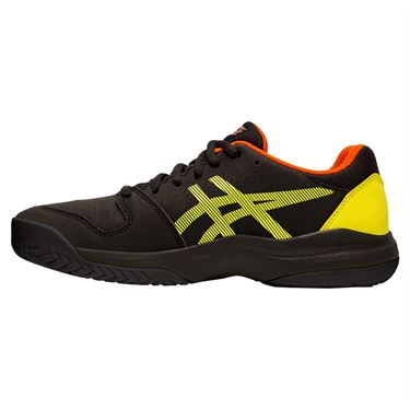 Asics Gel Game 7 GS Junior Tennis Shoe - Black/Sour Yuzu
