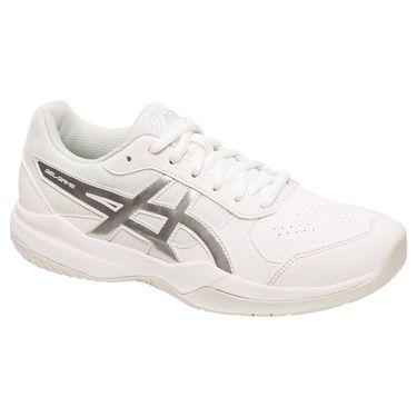 Asics Gel Game 7 Junior Tennis Shoe - White/Silver