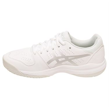 Asics Gel Game 7 Junior Tennis Shoe - White/Silver