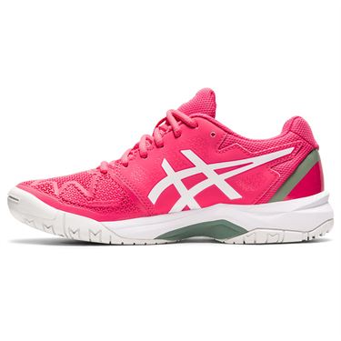 Asics Junior Gel Resolution 8 GS Tennis Shoe Pink Cameo/White 1044A018 702