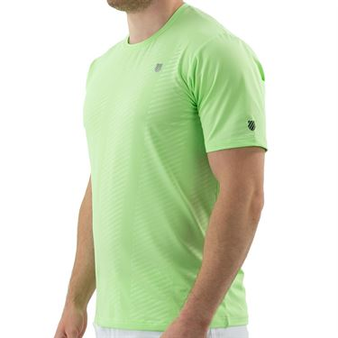K Swiss Hypercourt Shield Crew Shirt Mens Soft Neon Green 104910 332