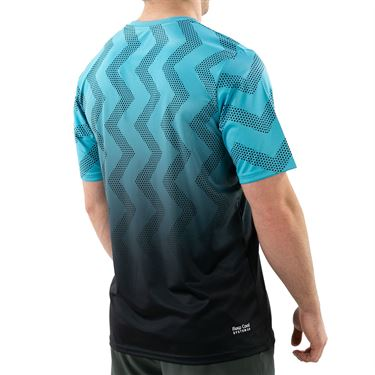 K Swiss Hypercourt Print Crew Shirt Mens Scuba Blue/Dark Shadow 104911 456