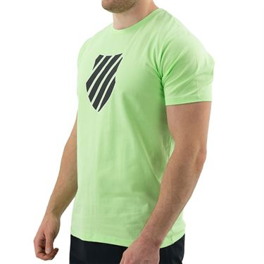 K Swiss Hypercourt Logo Tee Shirt Mens Soft Neon Green 104912 332