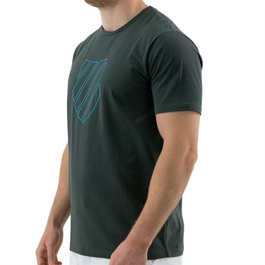K Swiss Hypercourt Logo Tee Shirt Mens Blue Graphite 104912 427