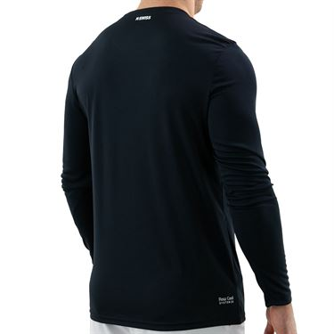 K Swiss Hypercourt Long Sleeve Shirt Mens Blue Graphite 104913 427