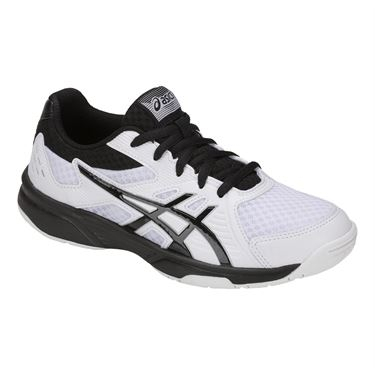 Asics Upcourt 3 GS Junior Tennis Shoe - White/Black