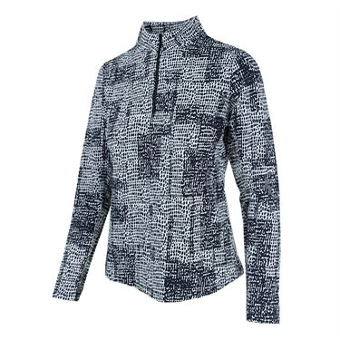 Ibkul 1/4 Zip Diane Jacket - Black/White