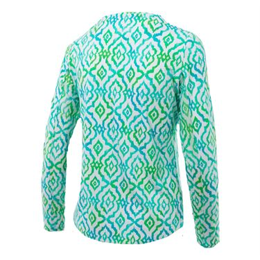 Ibkul Hollie Crew Neck Long Sleeve - Turq/Lime