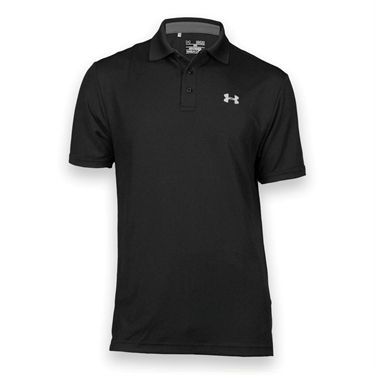 Under Armour Performance Polo- Black/Steel