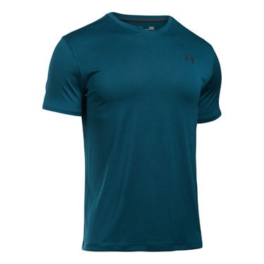 Under Armour Tech V Neck Tee - True Ink/Anthracite