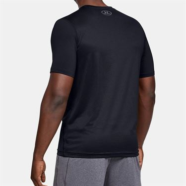 Under Armour Raid Tee Shirt Mens Black/Graphite 1257466 001