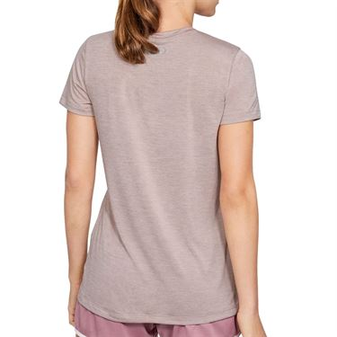 Under Armour Tech Twist V Neck Top Womens Dash Pink/Metallic Silver 1258568 667