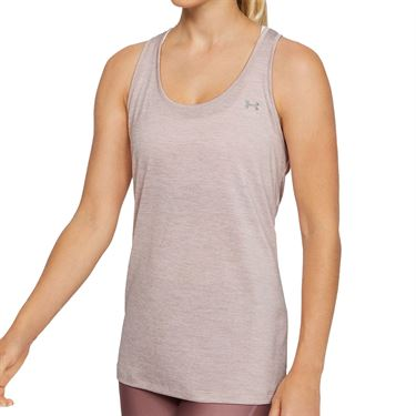 Under Armour Tech Twist Tank Womens Dash Pink/Metallic Silver 1275487 667