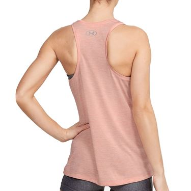 Under Armour Tech Twist Tank Womens Peach Frost/Metallic Silver 1275487 846