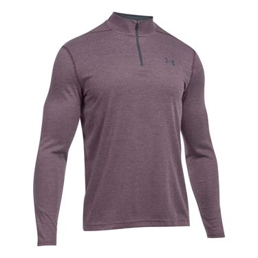 Under Armour Threadborne 1/4 Zip - Raisin Red/Stealth Gray