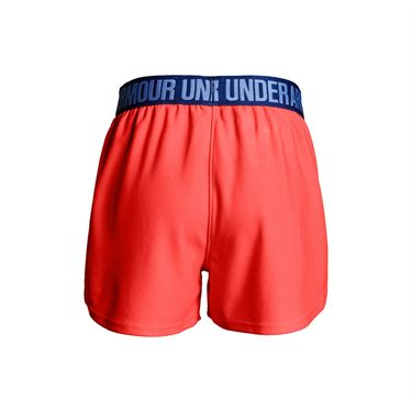 Under Armour Girls Play Up Short - Neon Coral/Formation Blue/Talc Blue