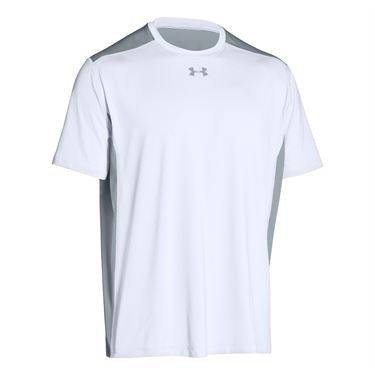 Under Armour Raid Colorblock Tee - White/Steel